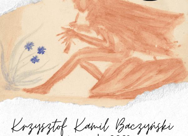 Plakat na temat wystawy skanów rękopisów Baczyńskiego