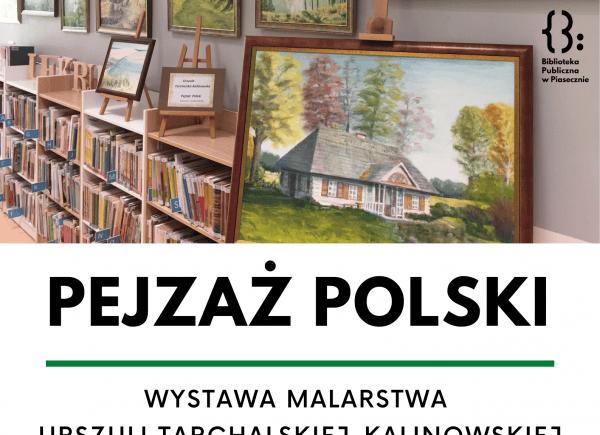 Plakat o wystawie Pejzaż Polski