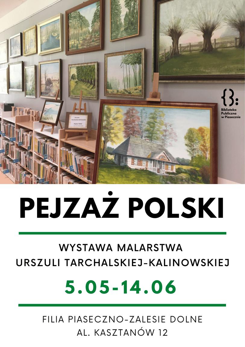 Plakat owystawie Pejzaż Polski