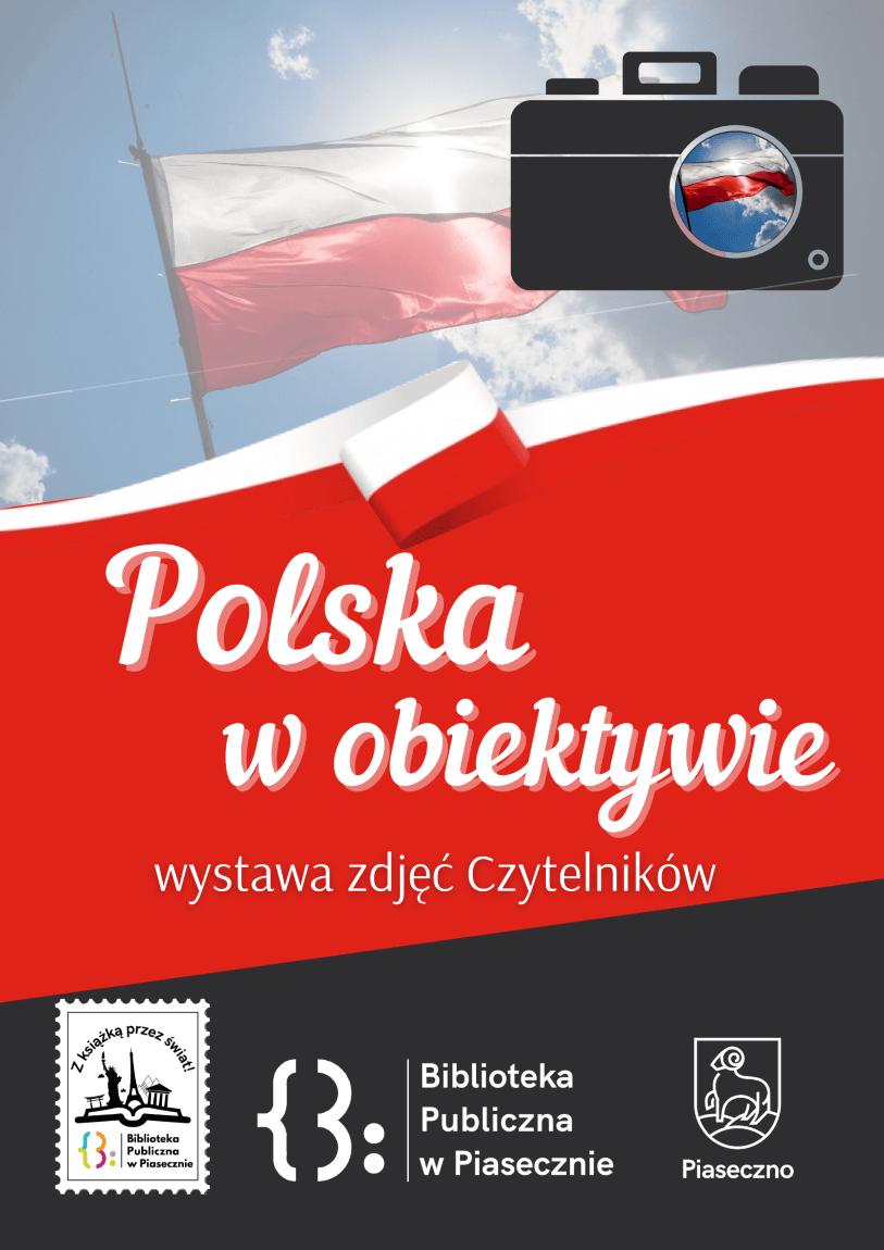 Plakat promujący wystawę zdjęć Polska w obiektywie