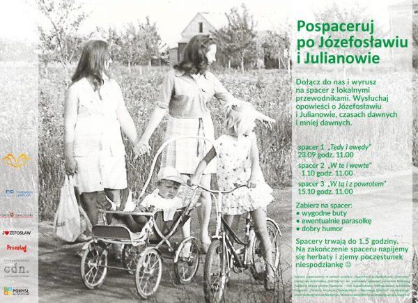 Plakat promujący spacery po Józefosławiu i Julianowie