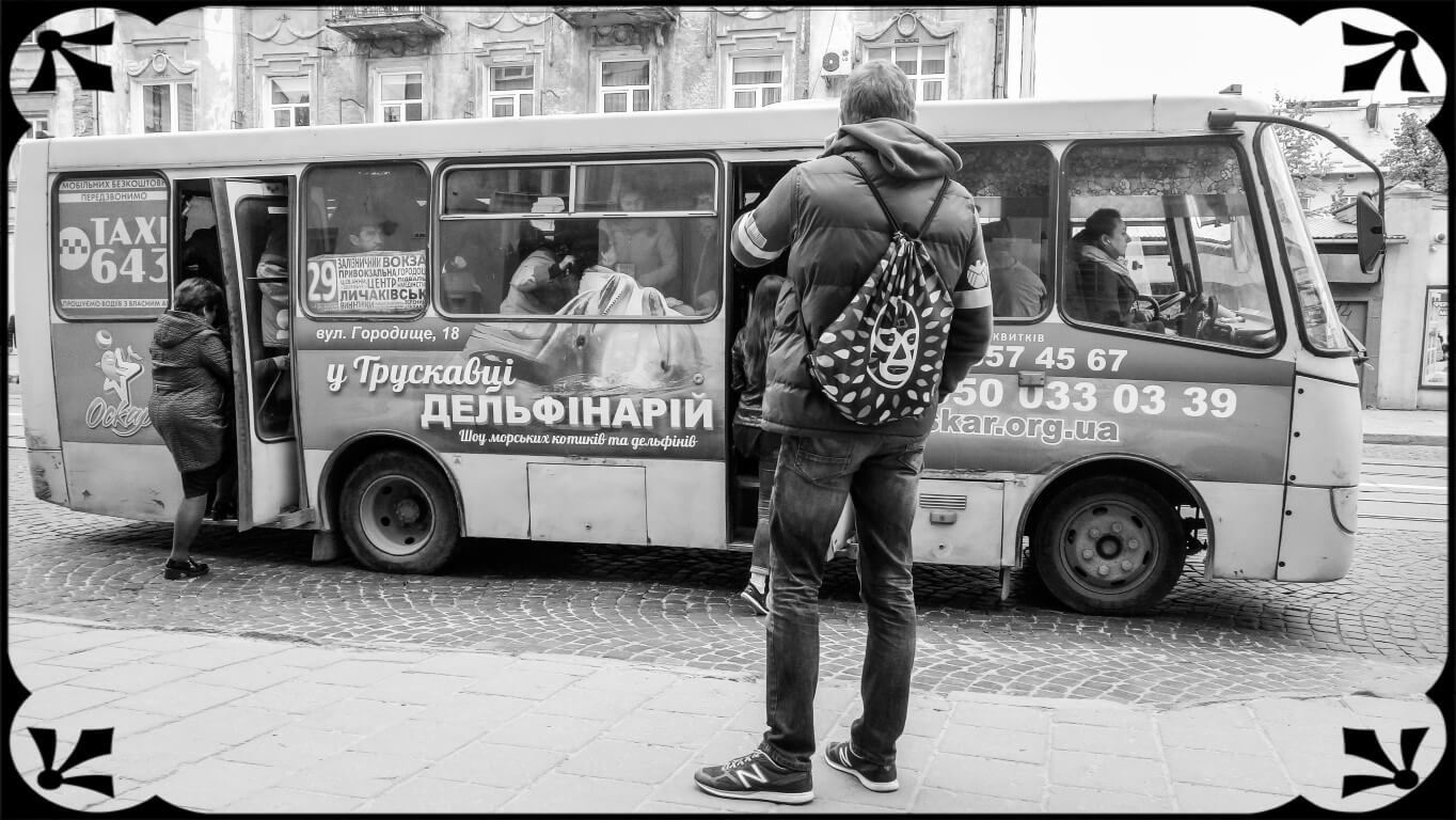 Ukraina, Lwów, stare autobusy, fot.Piotr Michalski