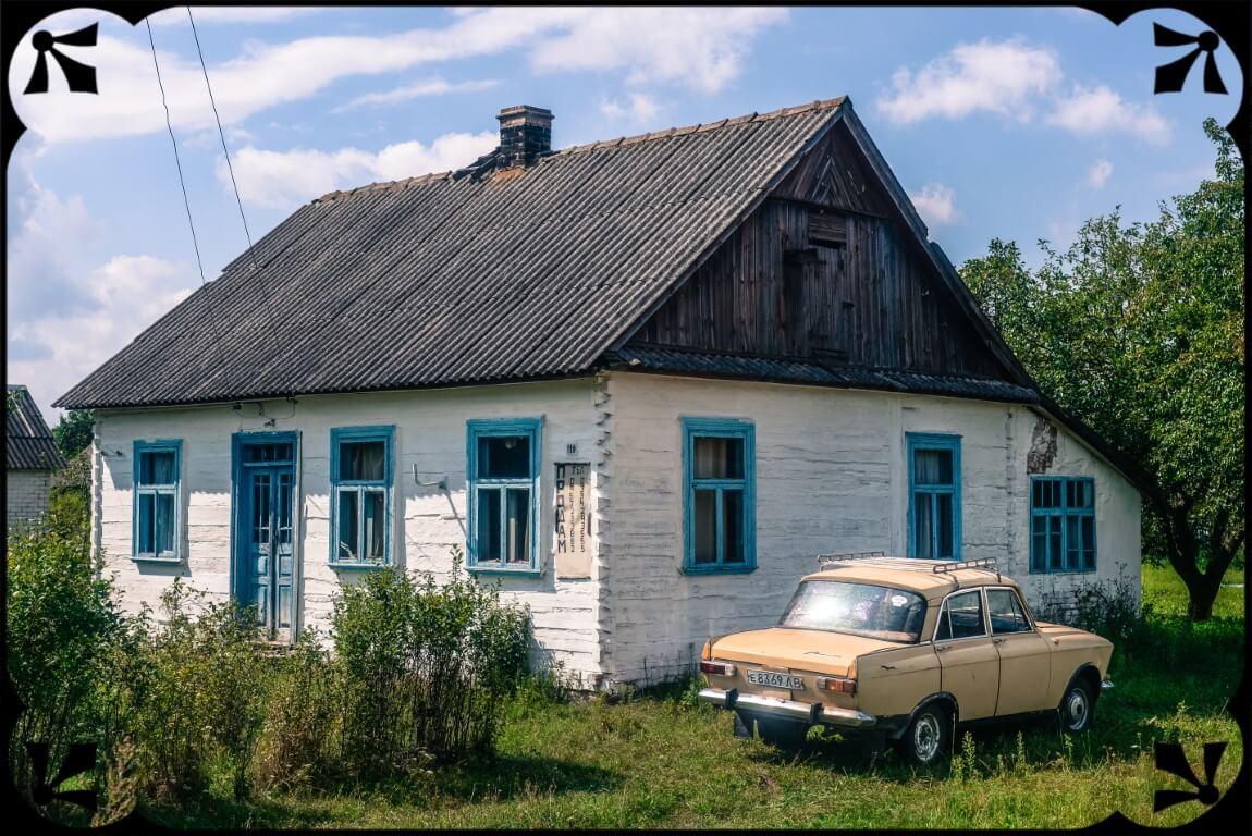 Ukraina wiejskie domy, fot.Piotr Michalski