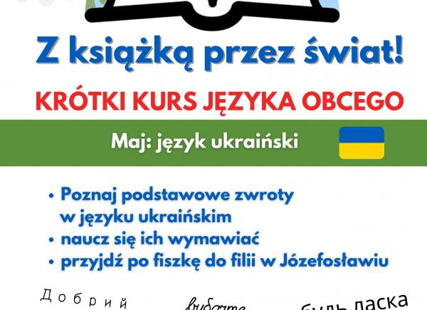 Plakat promujący kurs językowy