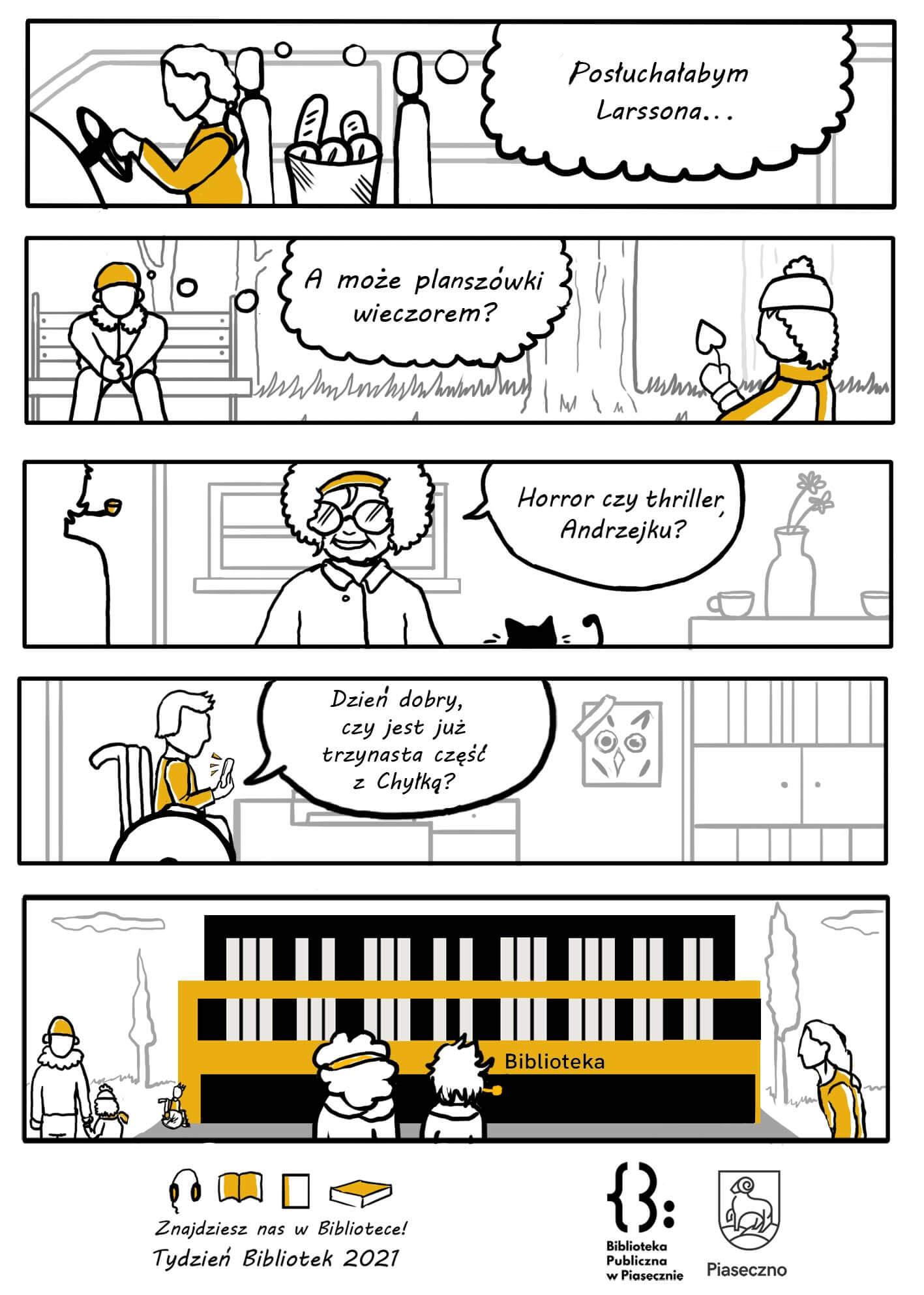 """Komiks """"Znajdziesz Nas wbibliotece"""""""