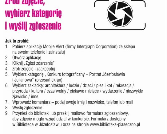 Plakat o Aplikacji Mobile Alert