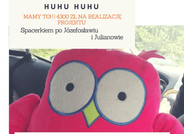"""Plakat promujący projekt """"Spacekiem po Józefosławiu i Julianowie"""""""
