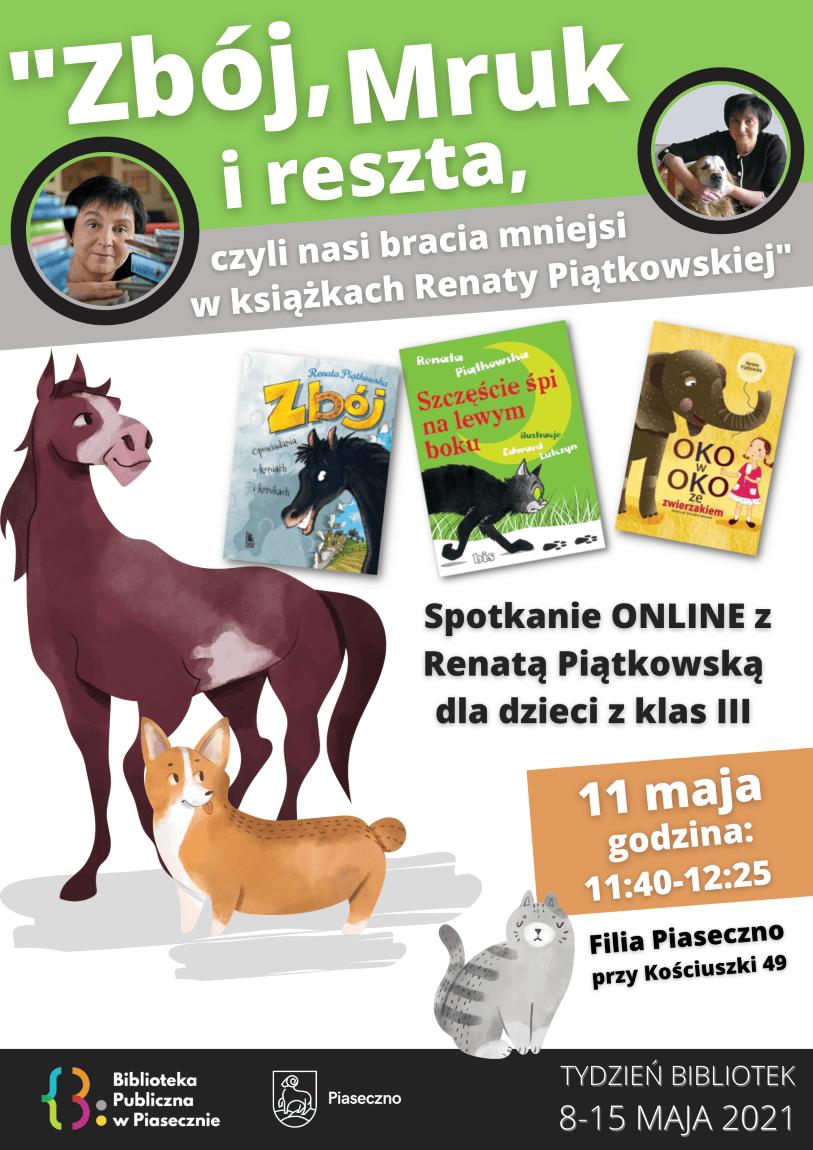 spotkanie online z Renatą Piątkowską Tydzień Bibliotek