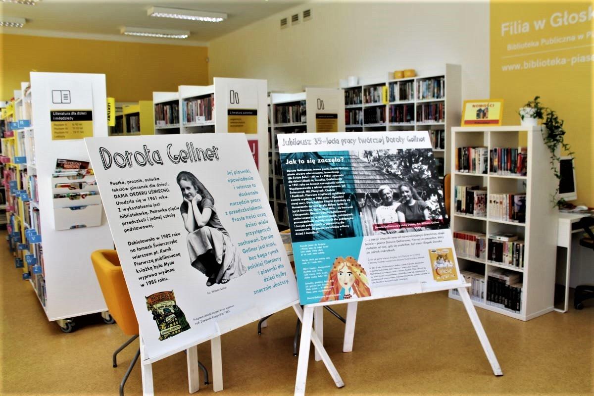 Wystawa Doroty Gellner wfilii biblioteki wGłoskowie