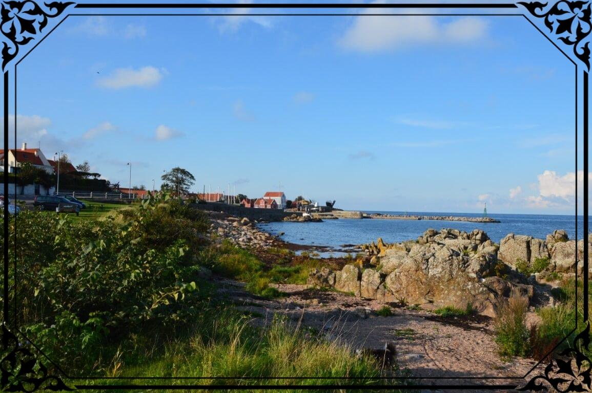Dania, widok naport Svaneke nawyspie Bornholm