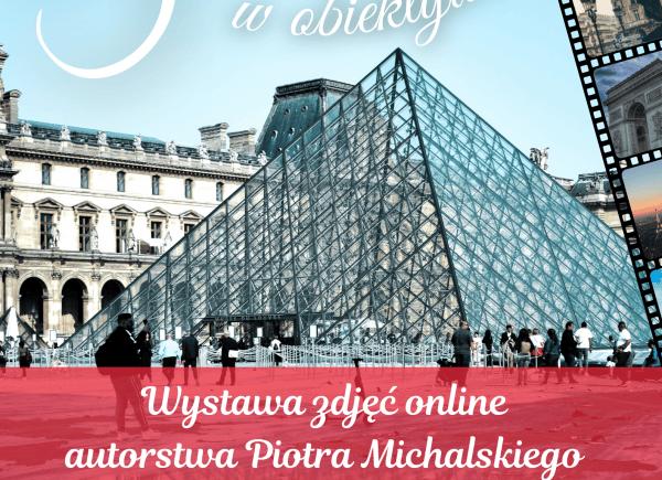Plakat promujący wystawę zdjęć online Francja w obiektywie