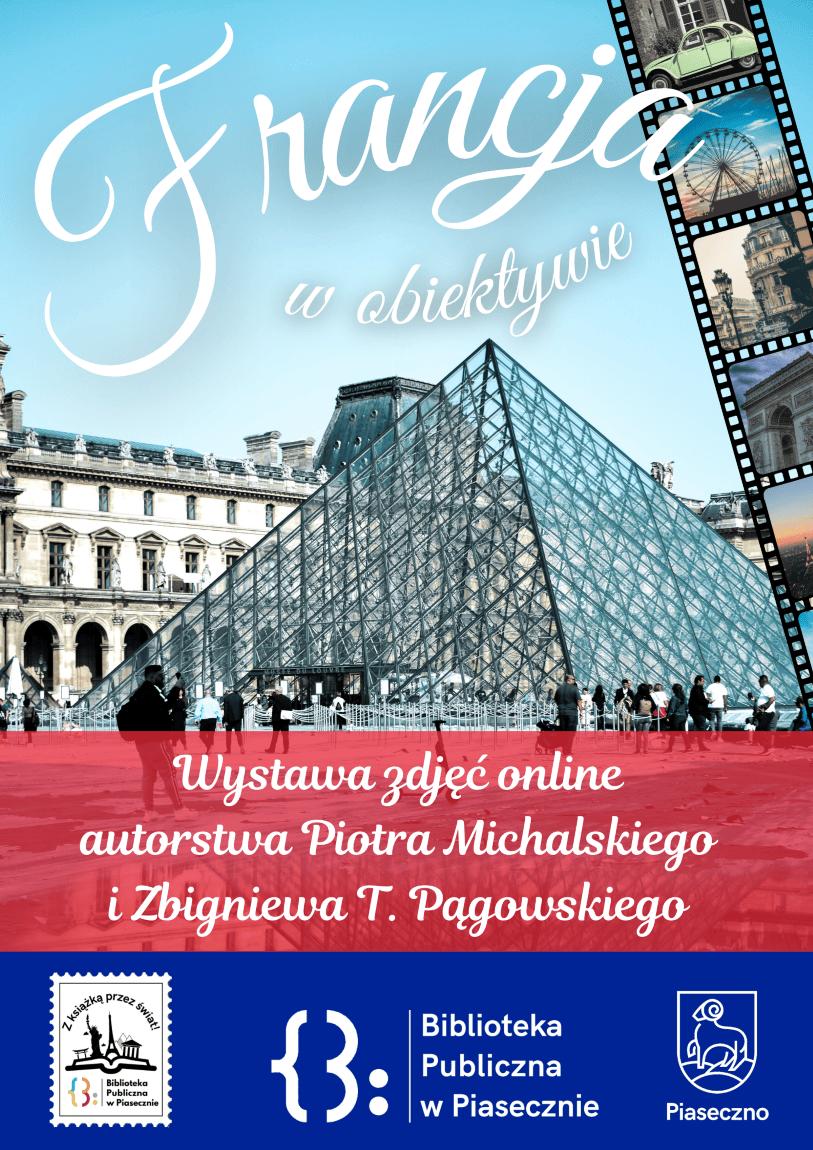 Plakat promujący wystawę zdjęć online Francja wobiektywie