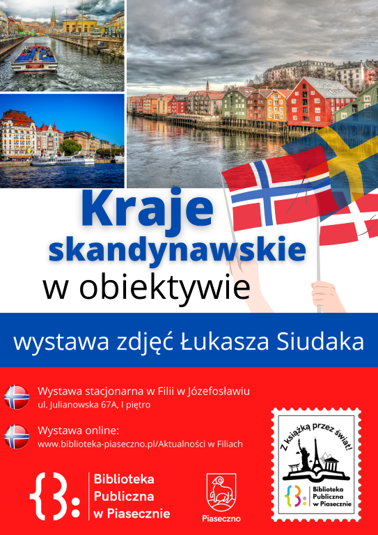Plakat pomujący wystawę Kraje skandynawskie w obiektywie