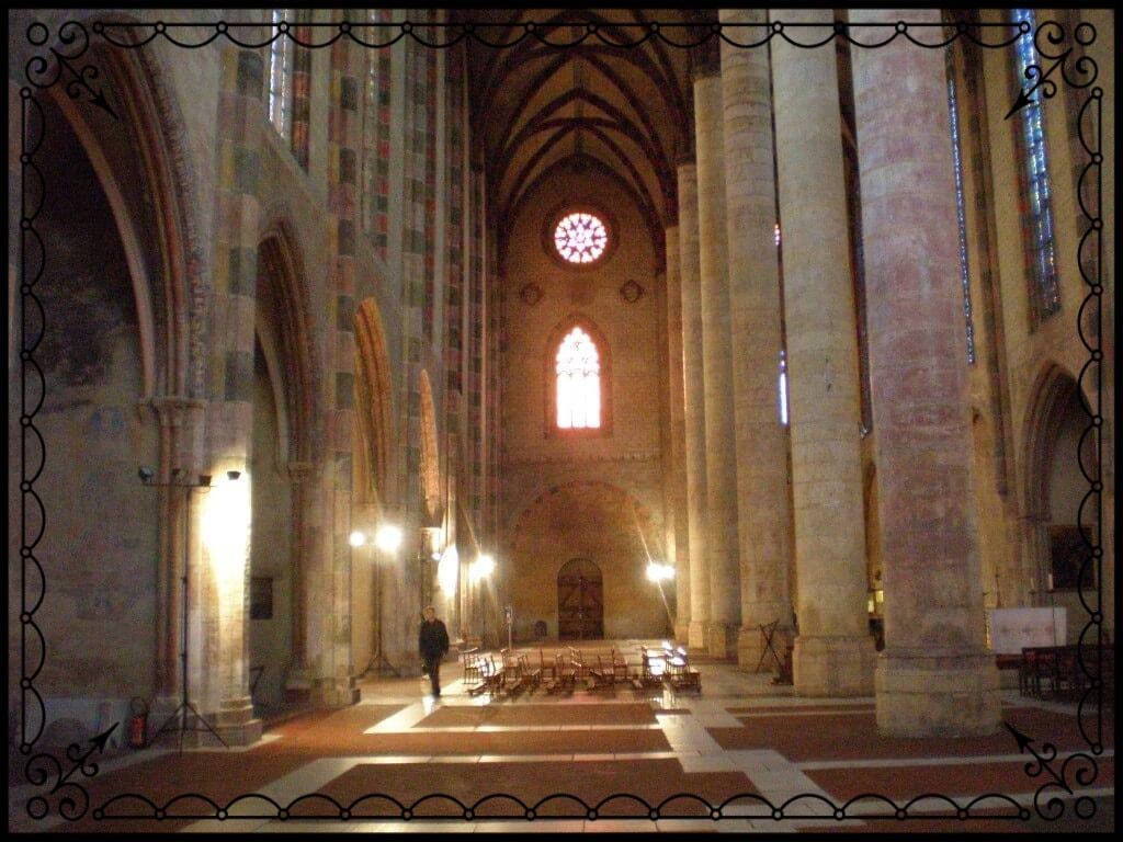 Wnętrze kościoła wTuluzie, fot.Zbigniew T. Pągowski
