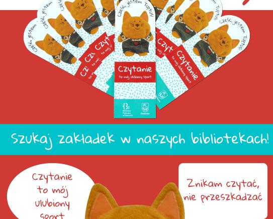 Plakat promujący zakładki Tuptusia