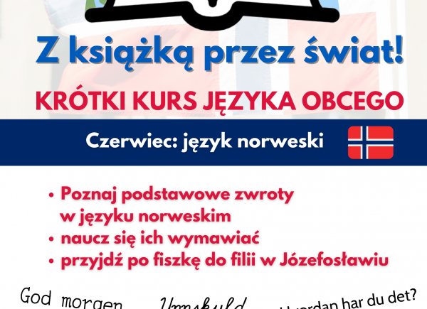 Zdjęcie przedstawiające plakat promujący krótki kurs języka obcego
