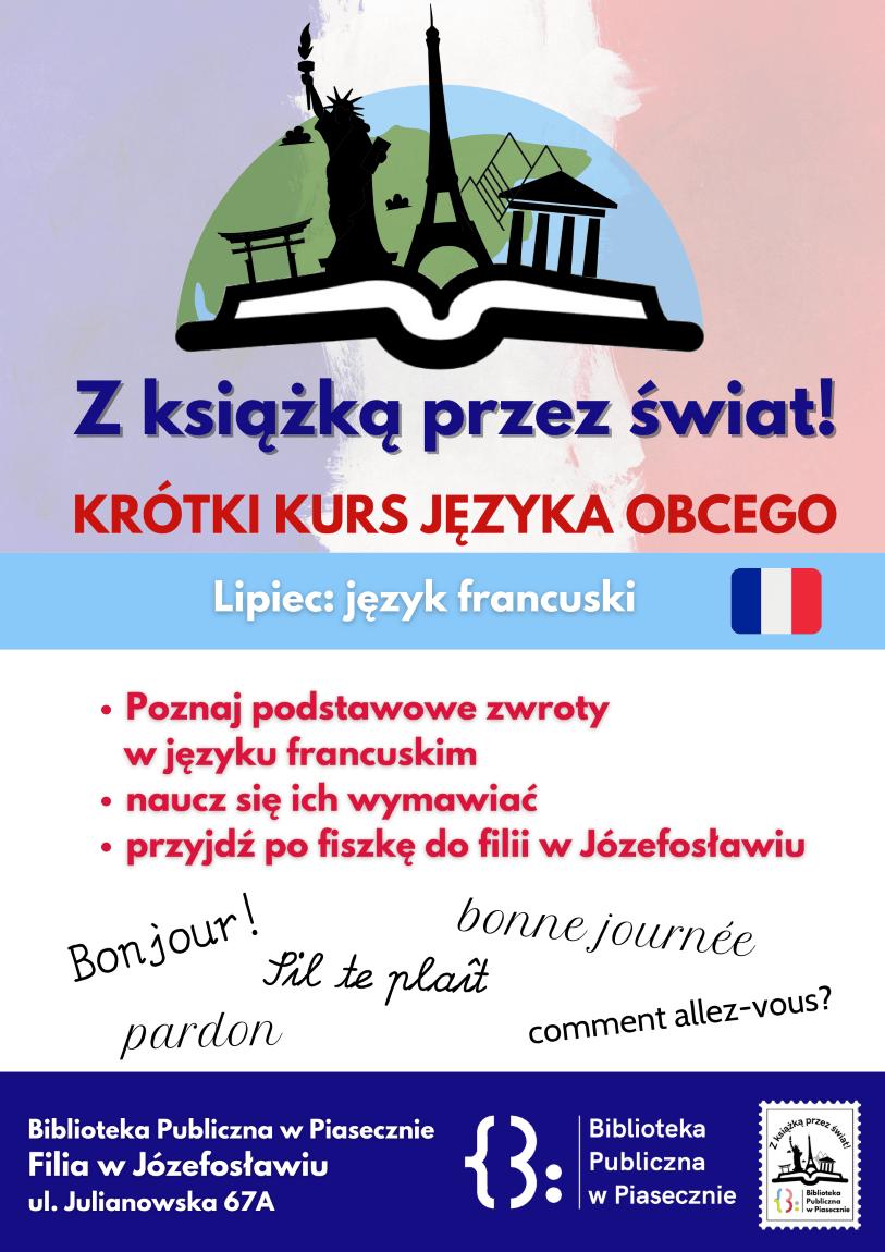 """Plakat promujący akcję """"z książką przez świat"""""""