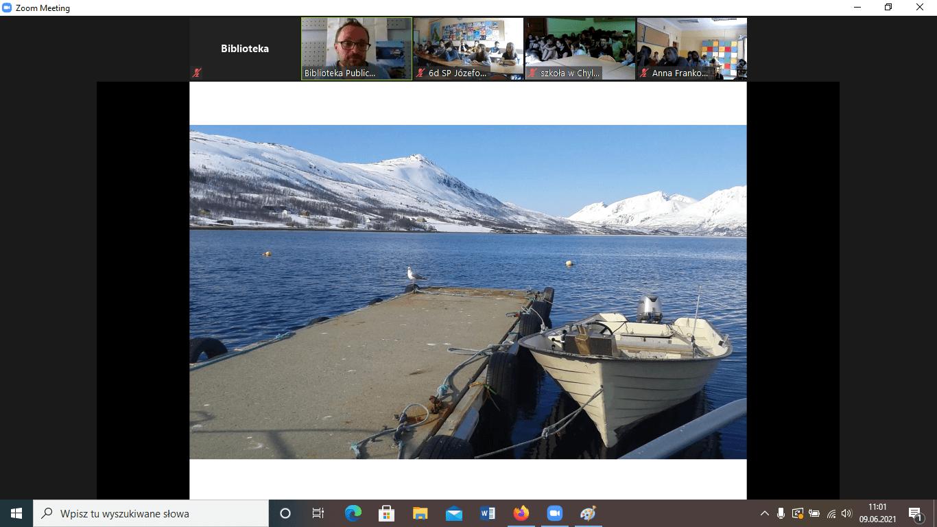 Lekcja online oNorwegii Północnej
