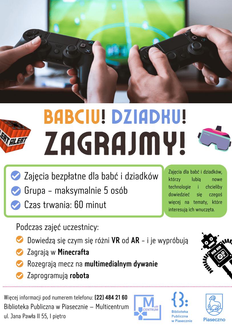 Zajęcia Plakat promujący zajęcia dla seniorów