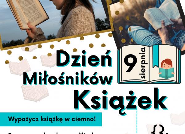 Plakat dotyczący wydarzenia Dzień Miłośników Książek