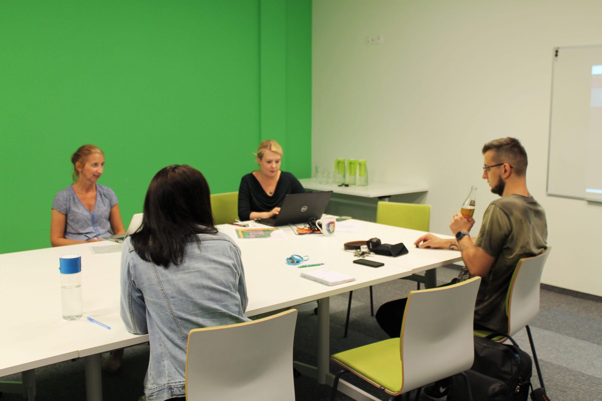 Spotkanie pracowników Biblioteki zAlicją Krawczyńską dotyczące Scruma