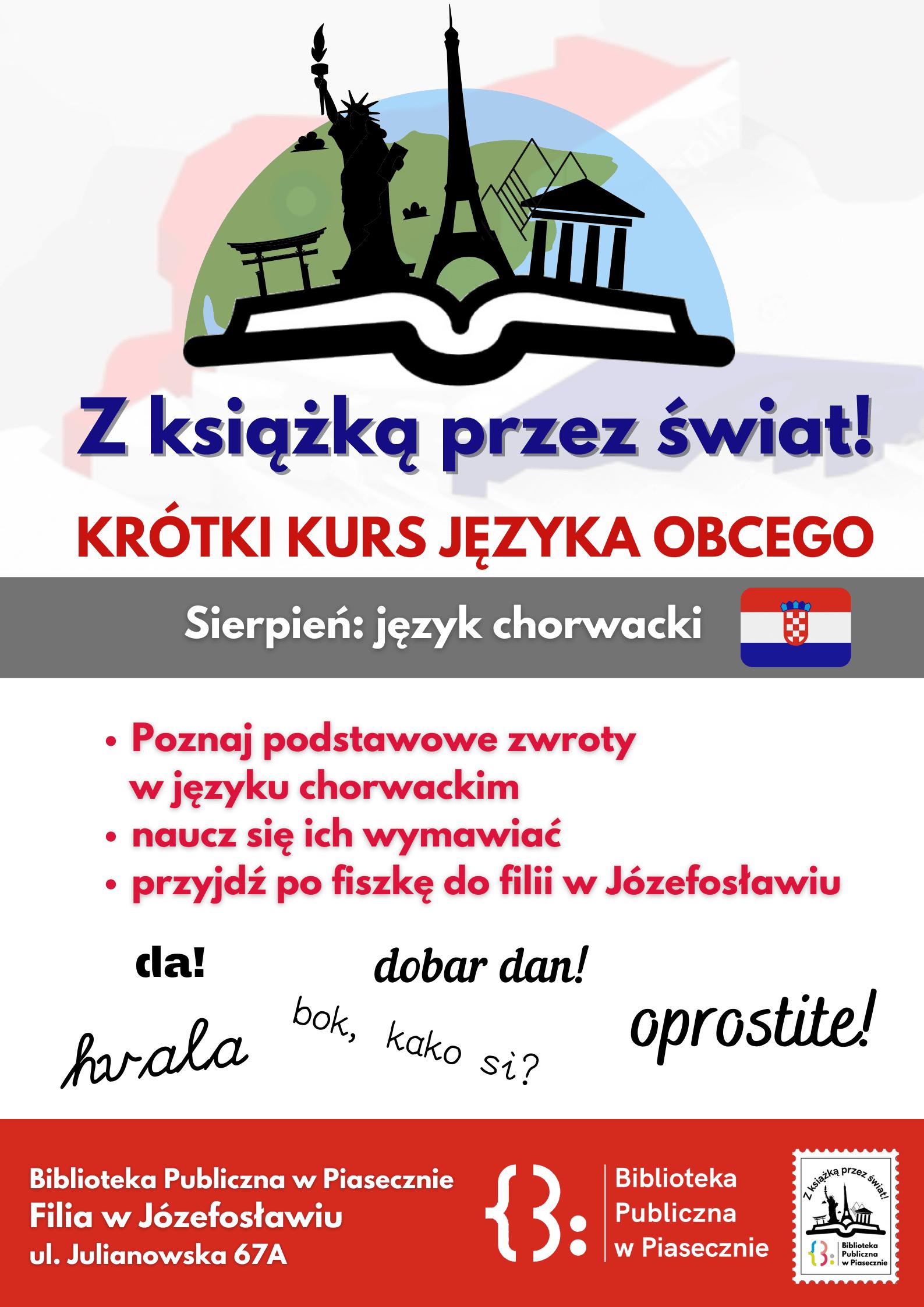 Plakat promujący akcję Krótki kurs języka obcego