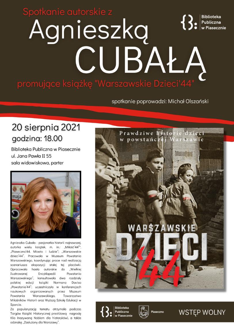 Spotkanie autorskie zAgnieszką Cubałą