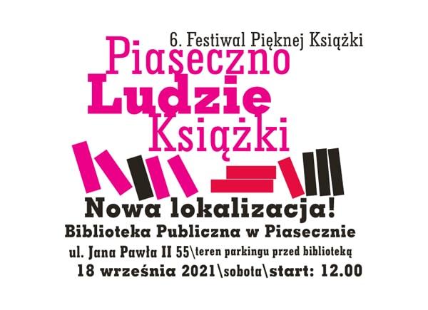 6. Festiwal Pięknej Książki 18.09.2021 w nowej lokalizacji - plakat