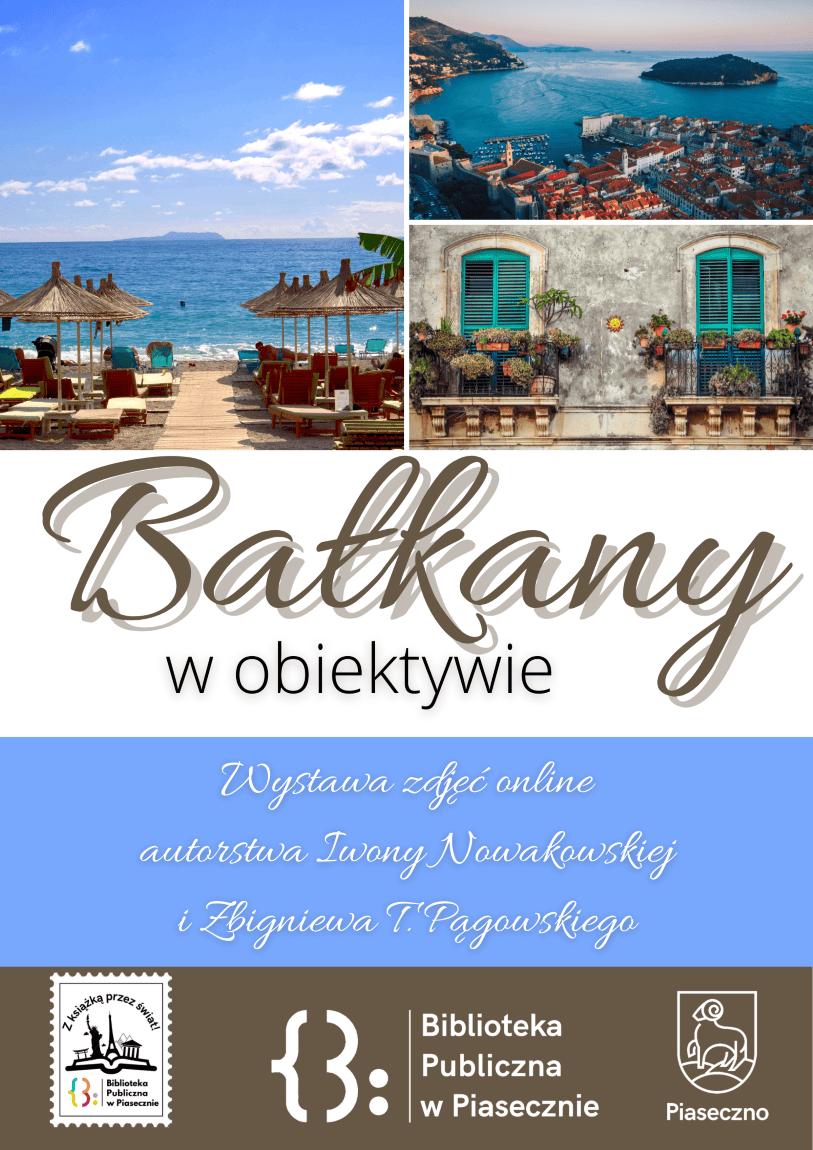 Plakat promujący wystawę online Bałkany w obiektywie