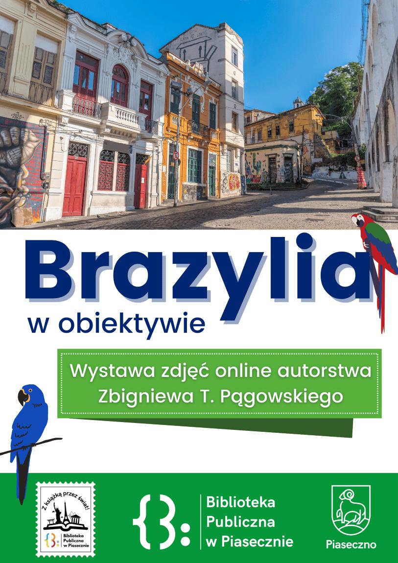 Plakat promujący wystawę Brazylia w obiektywie