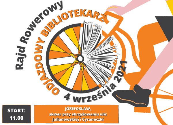 Plakat promujący Rajd Rowerowy Odjazdowy Bibliotekarz