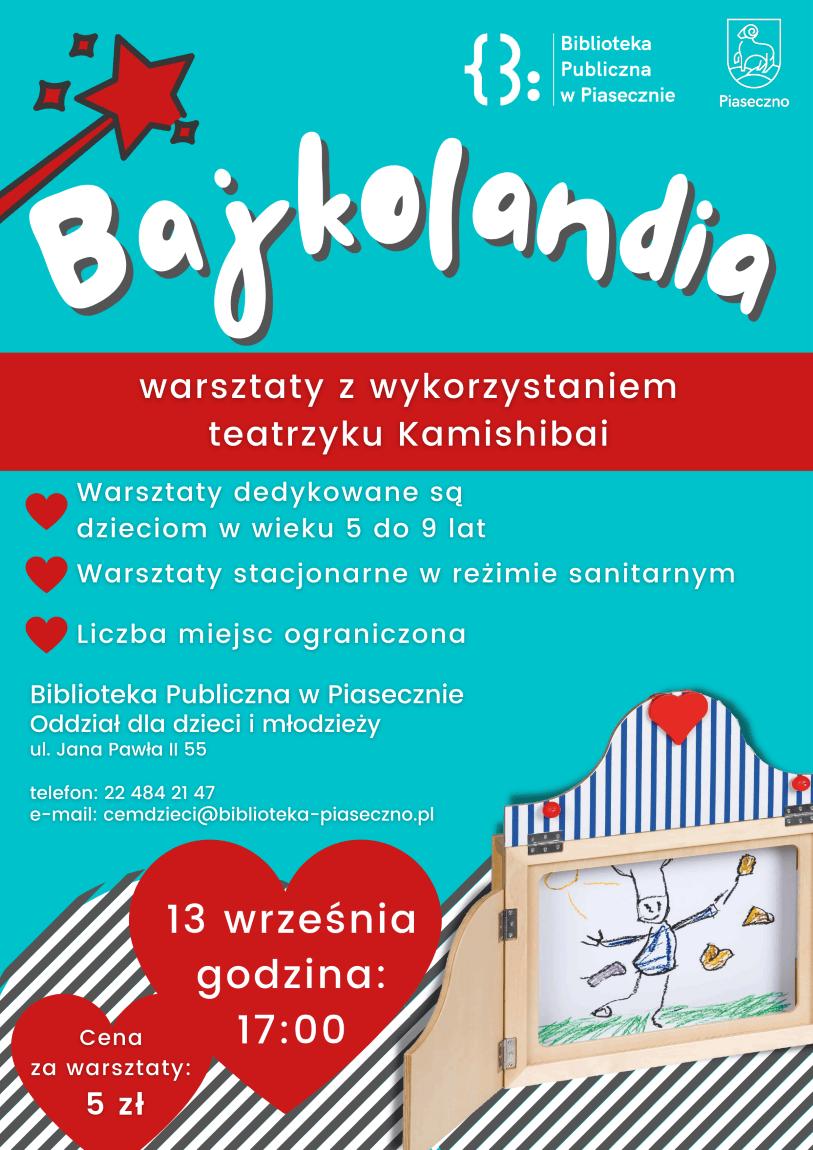 Bajkolandia - warsztaty z wykorzystaniem tetarzyku Kamishibai