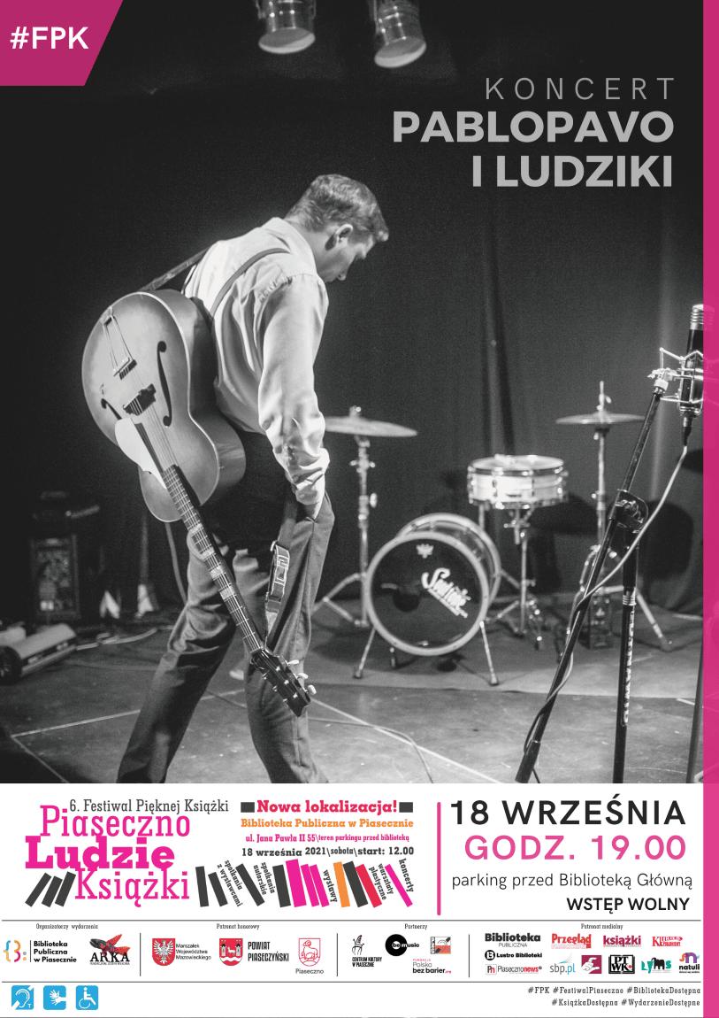 Plakat promujący koncert Pablopavo