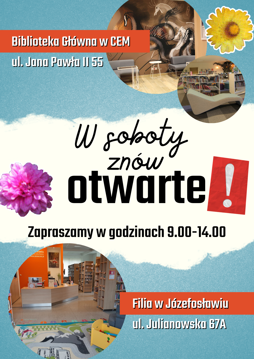 Plakat promujący otwarte soboty