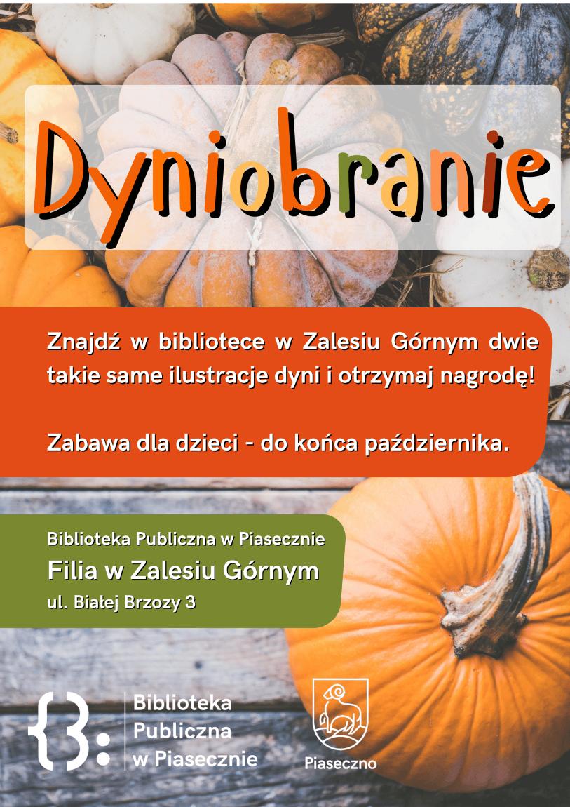 Plakat dotyczący wydarzenia Dyniobranie