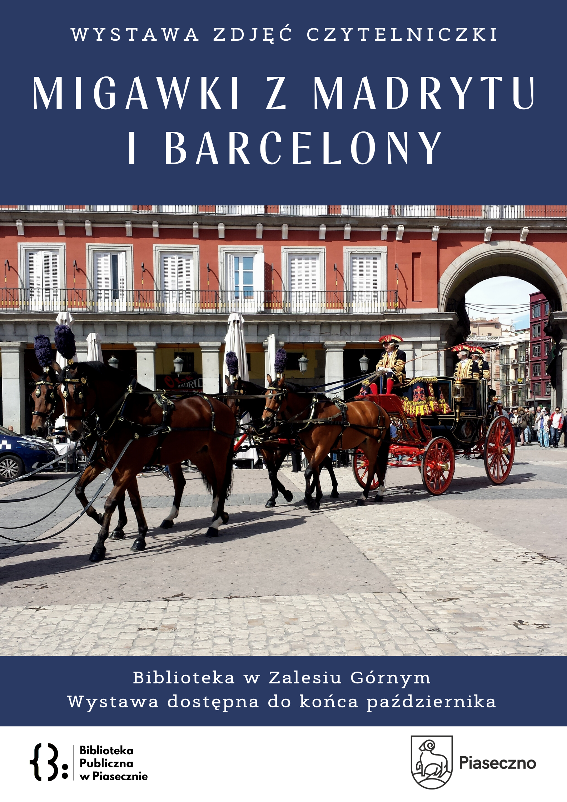 Plakat na temat wystawy zdjęć z Hiszpanii