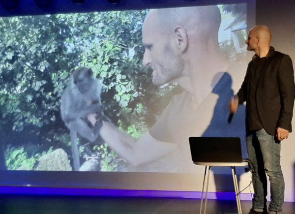Mariusz Kurc podczas prezentacji
