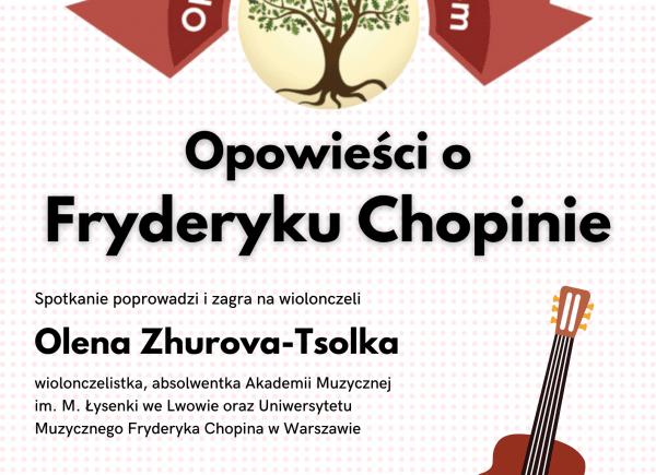 """Plakat - """"Opowieści o Fryderyku Chopinie"""""""